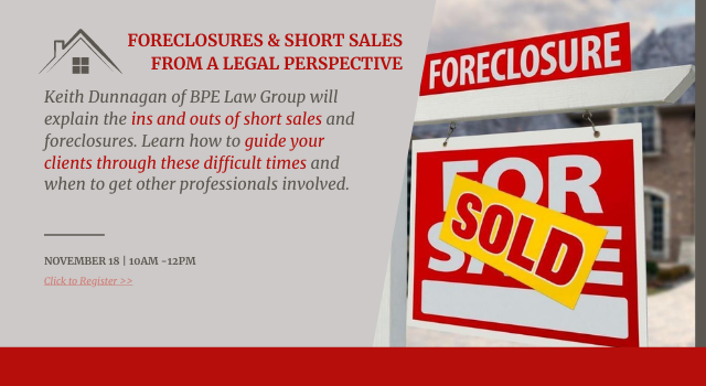 Foreclosures and Short Sales